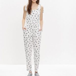 Madewell shoulder-tie jumpsuit palm tree NWT Smal